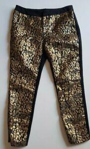 BARDOT-Black-Gold-Pants-Size-10