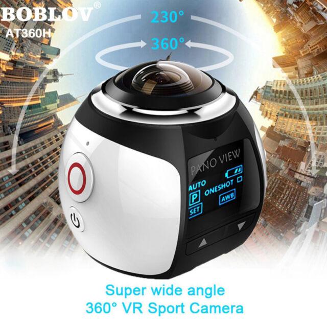 360 Camera 4k Wifi Panoramic Camera 2448*2448 16M HD 360 Degree Video DVR White