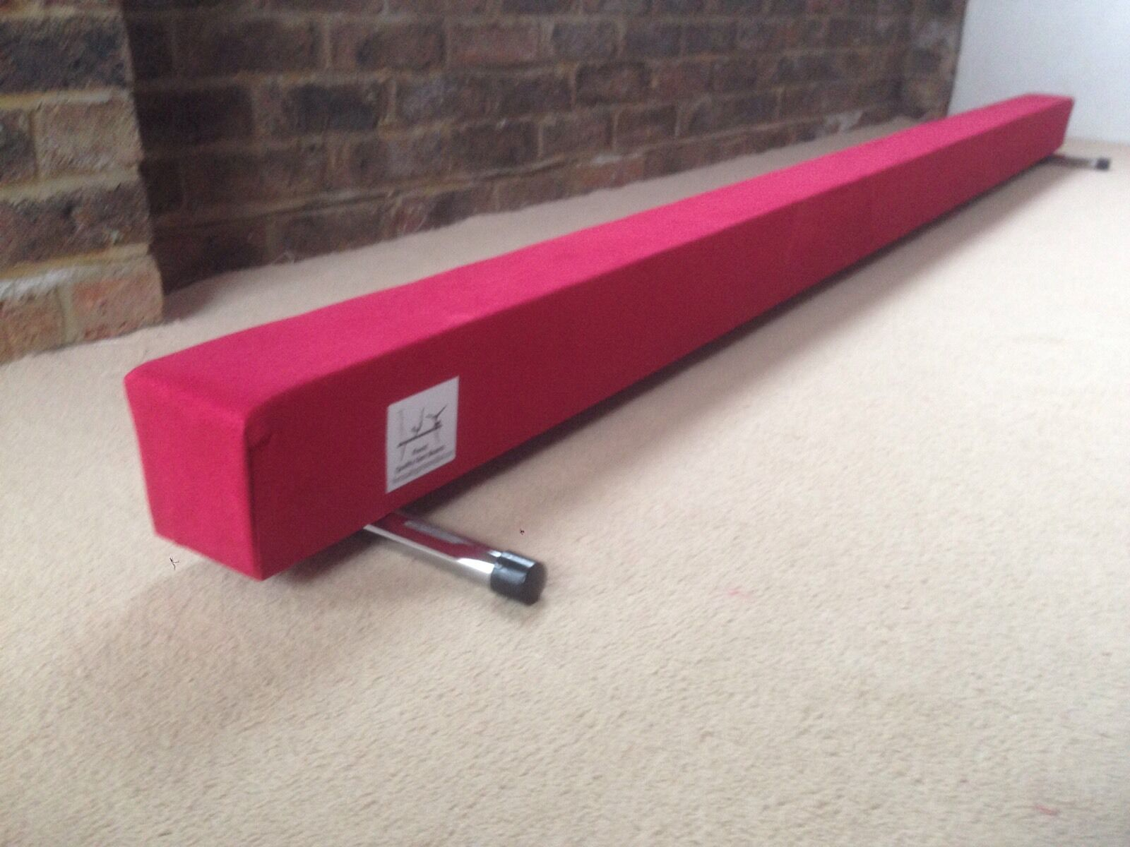 Finest quality gymnastics gym balance beam 6FT long choice of colours brand new