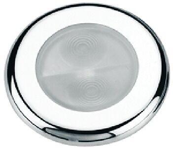 New Bogota 4-led Round Accent Courtesy Light aqua Signal 16407-7 Cover Stainless