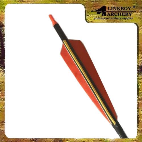 "12PCS 3-Take-Down Archery Carbon Arrows SP500 5/"" Feather F Pocket Hunter"