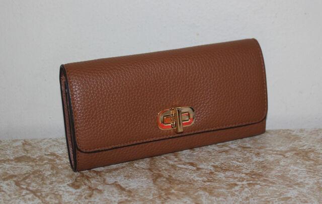 85c562dd78bd NWT MICHAEL Michael Kors Sullivan Large Carryall Leather Wallet *Luggage*