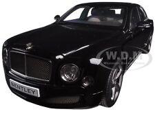 2014 BENTLEY MULSANNE SPEED ONYX BLACK 1/18 DIECAST CAR MODEL BY KYOSHO 08910