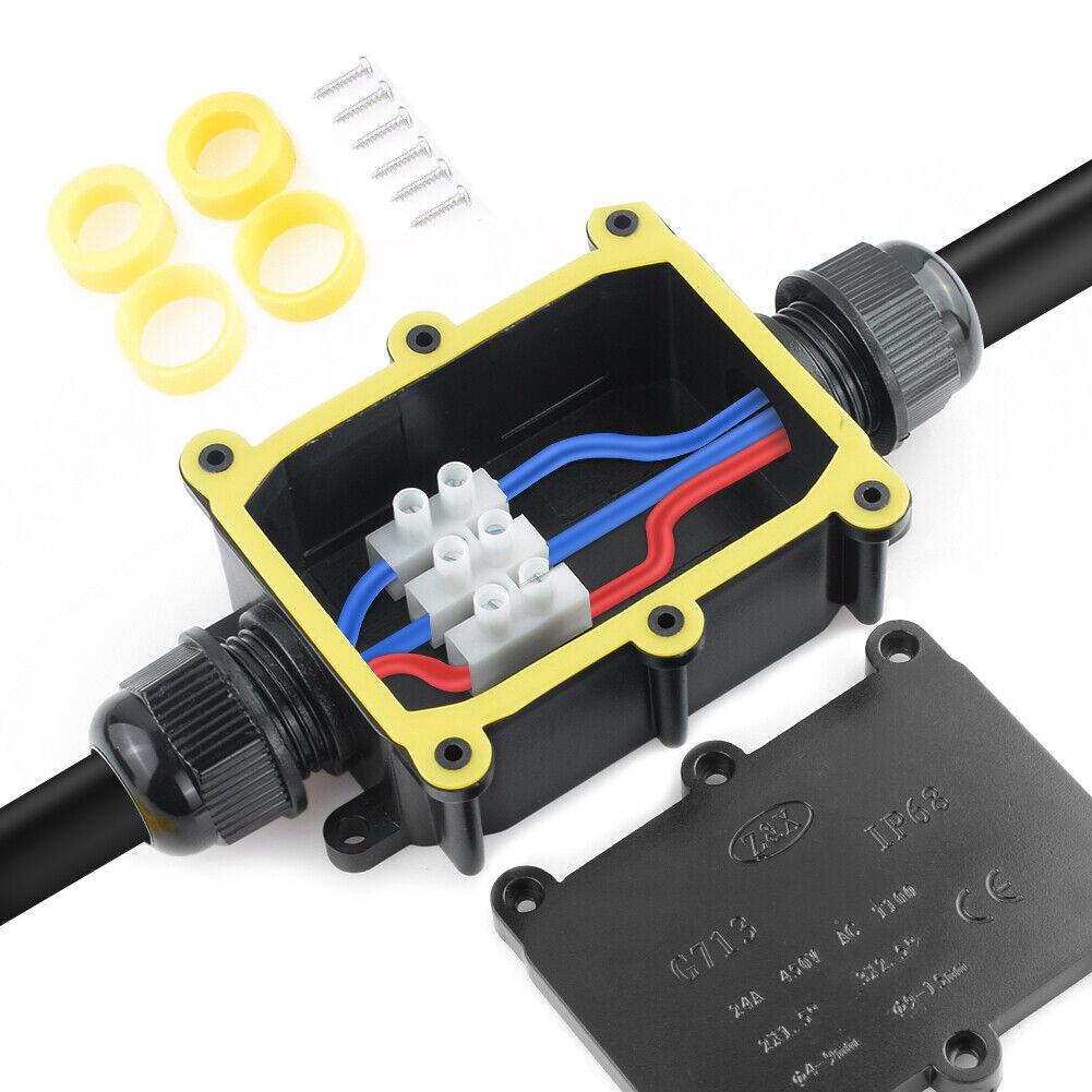 2-6 Way Outdoor Waterproof IP68 Underground Cable glands Connectors Junction Box