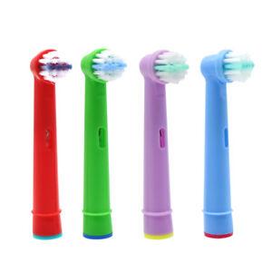 4pcs brosses dents brosses t te de rechange lectrique pour les enfants oral b ebay. Black Bedroom Furniture Sets. Home Design Ideas