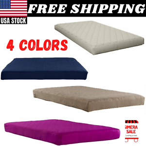 Twin Navy Dorel Home 6 Inch Polyester Filled Quilted Top Bunk Bed Mattress