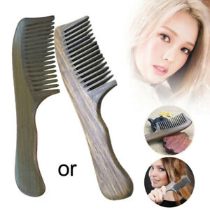 Details About 1pc Wooden Sandalwood Wide Tooth Wood Comb Natural Head Massager Hair Combs Best