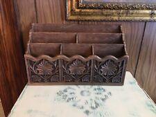 Vintage Lerner Desk Organizer 3 Tier 6 Slots Holder Faux Wood Mail Letter Caddy