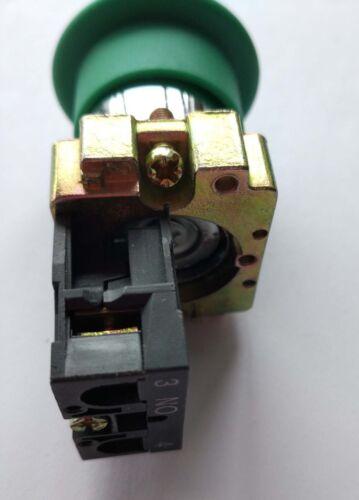 2pcs XB2BC31C NO Momentary Mushroom Head Push Button Switch Green 22mm XB2-BC31