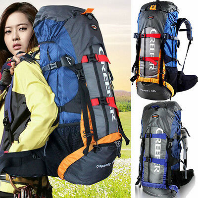 Waterproof 65L Outdoor Sports Backpack Rucksack Travel Bag Internal Frame Pack N