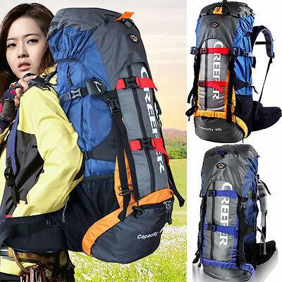 Waterproof 65L Outdoor Sports Backpack Rucksack Travel Bag Internal Frame Pack N