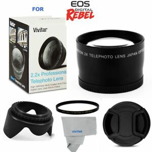 2-2X-TELEPHOTO-ZOOM-LENS-UV-FILTER-HOOD-FOR-CANON-EOS-REBEL-T5-T6-XS-T3-T5I