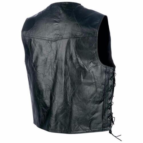"""jacket en cuir sans manches /"""" Simple modéle PATCHWORK Country LACETS /"""" Biker"""