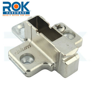 9 mm blum cabinet hinge clip mounting plates 175h7190 ebay for Cabinet mounting plate