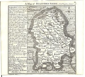 Antique-map-Staffordshire