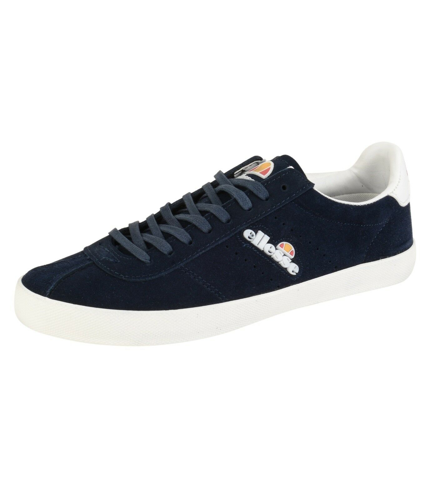 ellesse Avellino Vulc Low Canvas Fashion Shoes Casual Trainers Suede Navy Blue