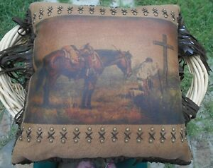 Image Is Loading WESTERN CHRISTIAN COWBOY 18X18 PILLOW WESTERN HOME OFFICE
