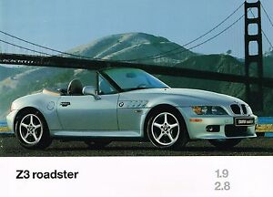 1997 Bmw Z3 Roadster Brochure Catalog With Color Charts Z