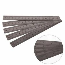 """5Pcs 6"""" 15cm Stainless Steel Metric Metal Ruler Pocket Measurement Double Sided"""
