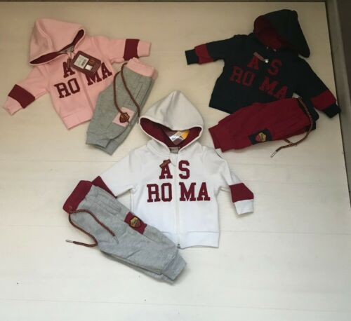 3642 Amistad Roma Anzug Strampler Fleece Neugeborenen Baby Suit Totti Kleinkind