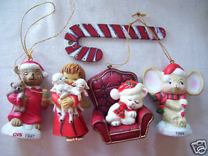 image is loading 4 christmas tree holiday ceramic bear ornament one