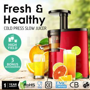 Cold Press Juice Slow Juicer Fruit Vegetable Processor Extractor