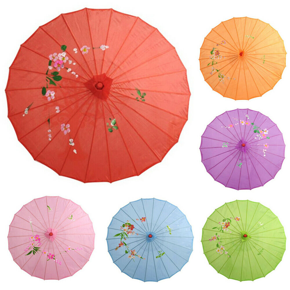 Chinese Vintage Silk Umbrella Wedding Decor Photo Shoot Parasol Dance Props Well Clothing, Shoes & Accessories