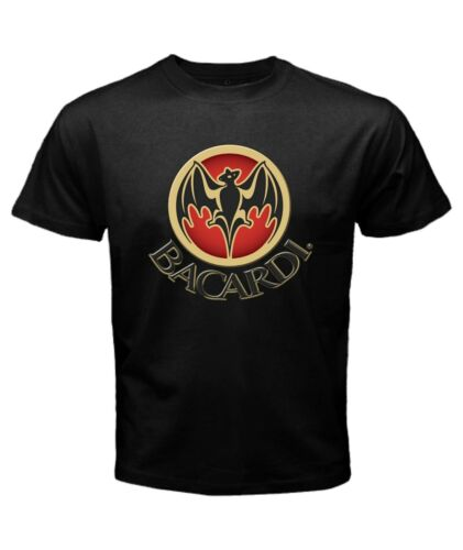 BACARDI-Spirits Company-White Rum-Short Sleeve Black T-shirt XL XXL XXXL