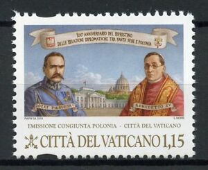 Vatican City 2019 MNH Diplomatic Relations JIS Poland Religion People 1v Set