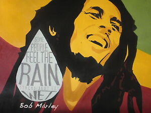 Image Is Loading Bob Marley Pop Art Style Oil Painting 20x20