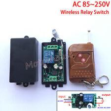 AC110V 220V 240V 10A 1CH RF Wireless Remote Control Relay Switch Receiver On/Off