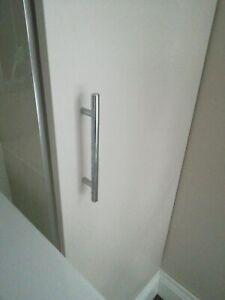 4 x Brushed Nickel Effect Rod Handle B/&Q New Door Handle 510mm 456mm 344mm 220mm