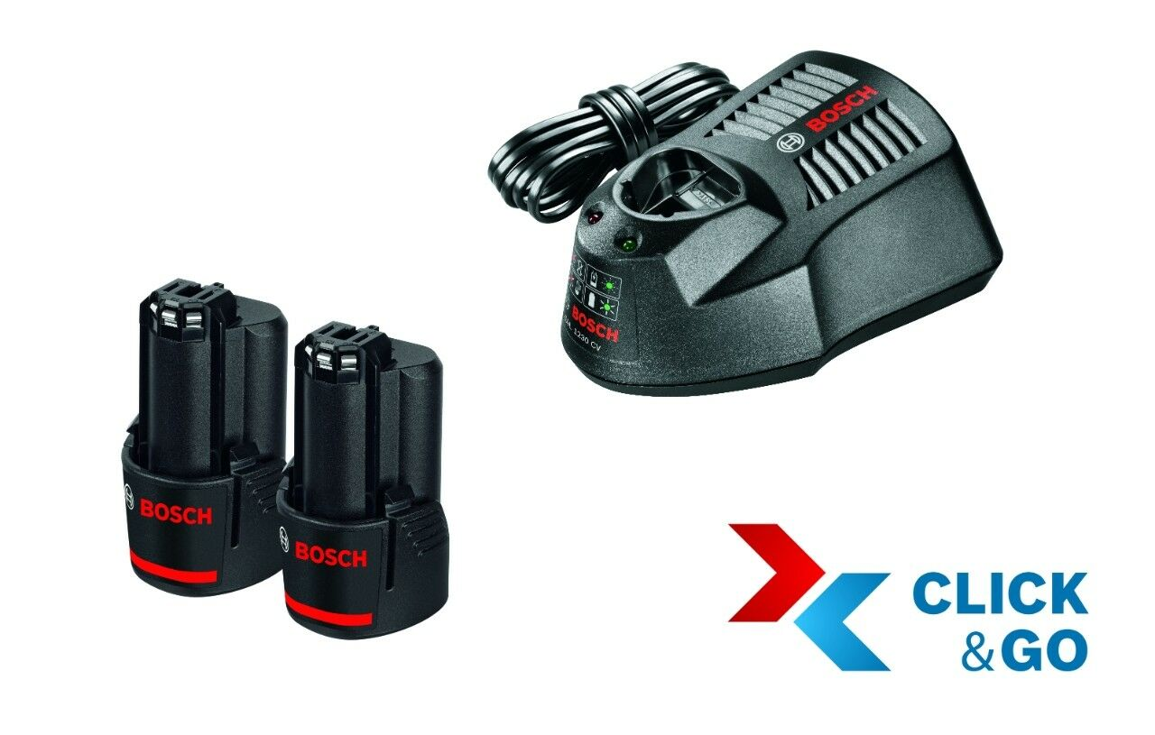 Bosch Akku Starter-Set  2 x GBA 12 Volt, 3,0 Ah und Ladegerät GAL 1230 CV