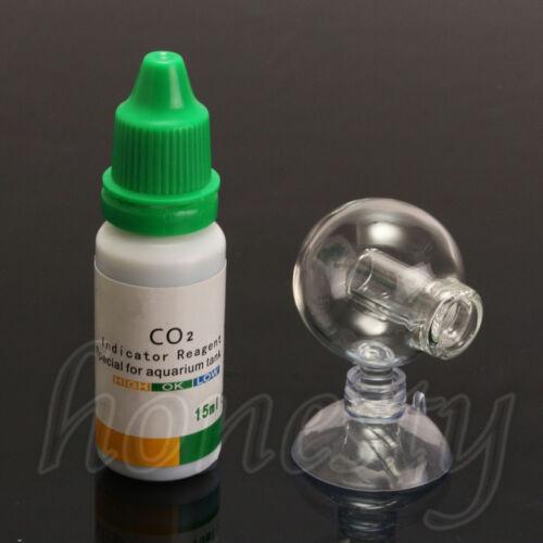 Acuario dióxido de carbono Monitor CO2 Verificador de caída de la bola de cristal Probador Indicador De Ph