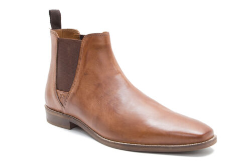 new MEN/'S Red Tape Leather Tapton Chelsea Pull on ankle boots Tan UK size 10