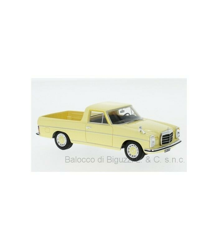 MERCEDES W115 PICK-UP plataINA 1974 LIGHT amarillo 1 43