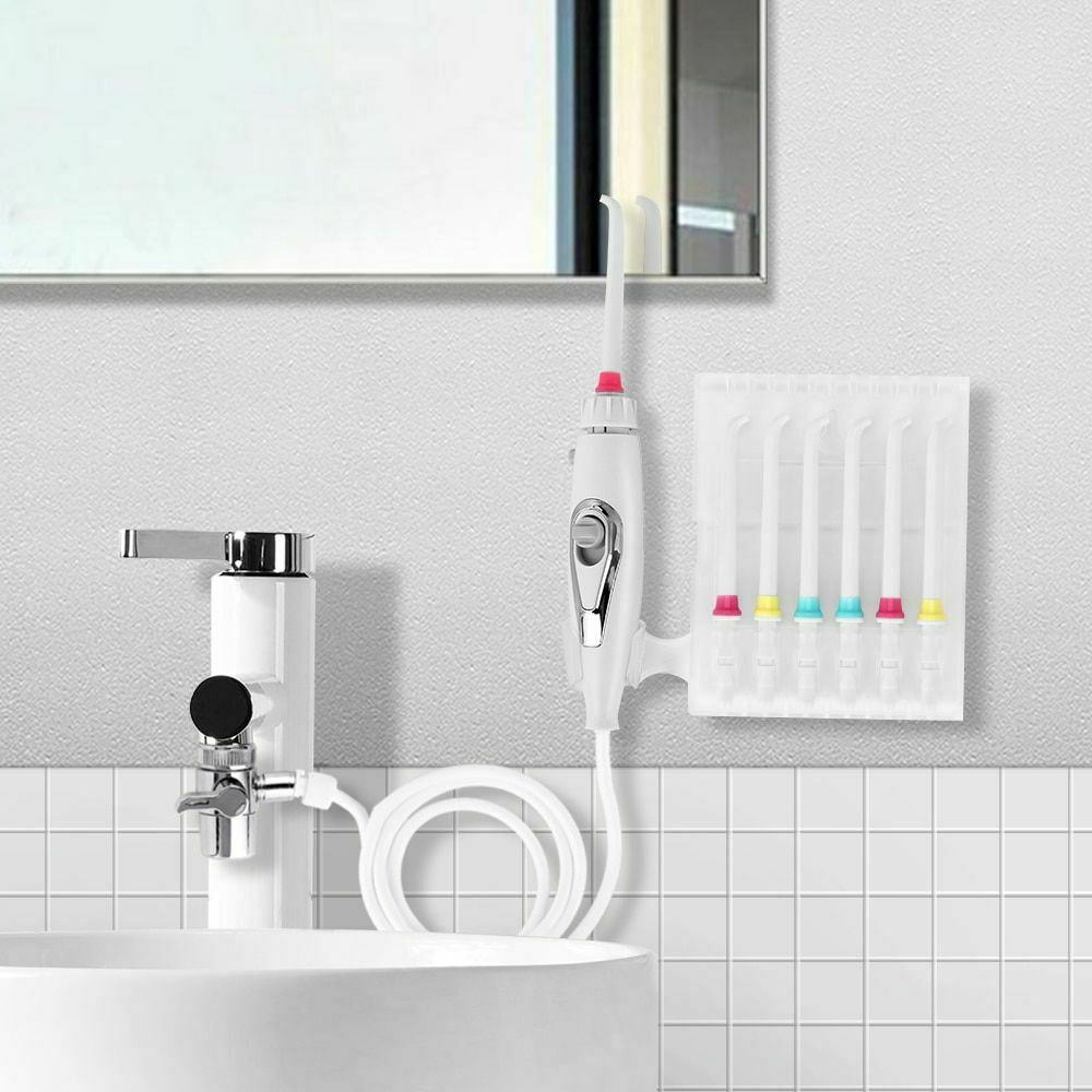 Faucet Oral Irrigator Water Jet Toothbrush Teeth Flosser 6 T