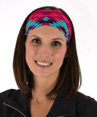 Pink Bandana Pink Fit Chic wide Headband Bolder fitness yoga athletic non slip