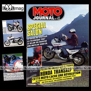 MOTO-JOURNAL-N-765-DUCATI-750-HONDA-XL-600-V-TRANSALP-SALON-PARIS-1986