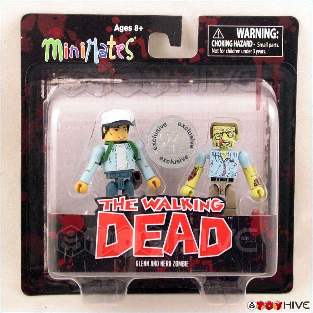 The Walking Dead Minimates figures Glenn Nerd Zombie Toys R Us exclusive