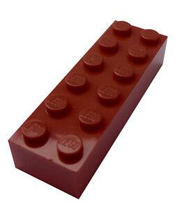 Lego Duplo 10 Stück dunkelbeige Steine 2x4 dark tan 8 Noppen Neu
