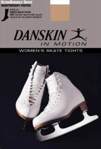 Danskin 73 Women/'s Size C Light Toast Heavyweight Skate Tights