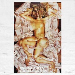 ORIGINAL 1985 XVI RIP ARLES (THERESA RUSSELL) NUDE POSTER BY DAVID HOCKNEY