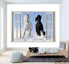 Horse Nature Animal Decal 3D Window Wall Sticker Poster Vinyl Bedroom Art F10