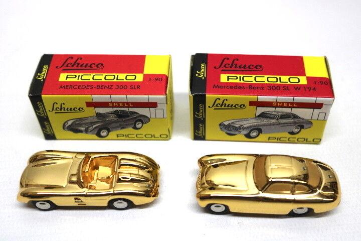 Schuco piccolo piccolo piccolo mercedes - benz 300 sl w 194 & 300 slr 1 90 Gold 357427
