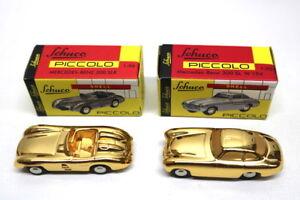 Schuco-Piccolo-mercedes-benz-300-sl-W-194-amp-300-SLR-1-90-Gold