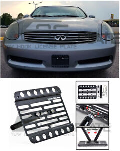 Eos Plate For 03 05 Infiniti G35 2dr Front Bumper Tow Hook License Mount Bracket Ebay