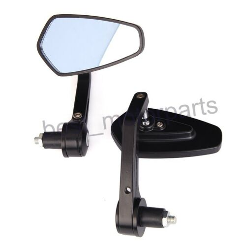 """UNIVERSAL MOTORCYCLE 7//8/"""" 1/"""" HANDLE BAR END REAR SIDE VIEW MIRRORS FOR HARLEY"""