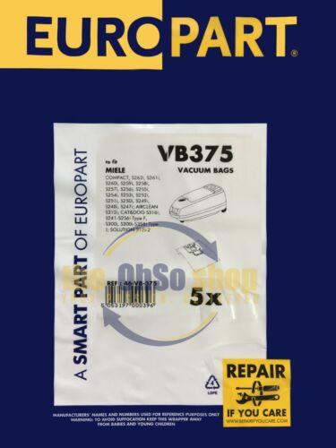 S249i S248i S247i 5 X Miele Compact Aspirateur Sacs F//J//M type-S246i