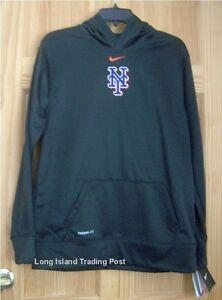 best sneakers 2e655 1c175 NIKE New York Mets Black Therma-Fit Hoodie Genuine MLB NEW ...